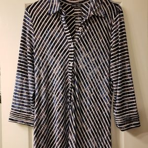 Boho Chic long shirt with buttons size XL